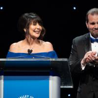 President Philomena Mantella on stage with her husband Bob Avery.